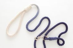 DIY an ombre rope leash for your pup.