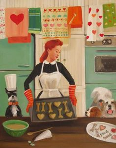 """""""Miss Moon Was A Dog Governess. Lesson Fifteen: Be Generous With Your Love"""" by Janet Hill"""