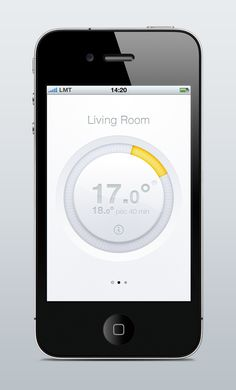 Istabai home automation app by by Gustavs Cirulis - thermostat Mobile App Design, Mobile Ui, Weather Application, Ui Design Inspiration, Ui Ux Design, Graphic Design, Kit Homes, Home Automation, Smart Home