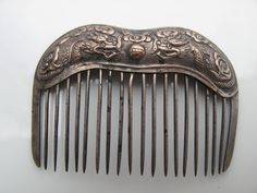 Antique Vintage Chinese Silver Hair Comb with by YanaApothicaire, $95.00
