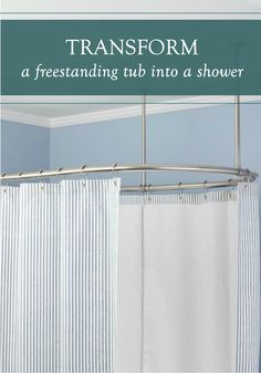 Create A Shower Out Of Your Freestanding Tub By Surrounding It With This  Oval Shower Curtain Rod. Perfect For A Clawfoot Tub, This Piece Of Hardware  ...