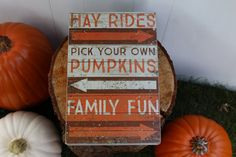 Hay Rides, Pumpkins, and Family Fun-Fall Wood Sign by EngeltonFarm on Etsy https://www.etsy.com/listing/547732109/hay-rides-pumpkins-and-family-fun-fall