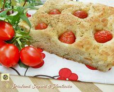 Pizza bianca e pomodorini