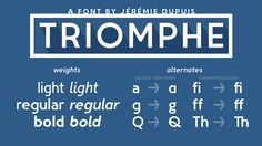 Free Font Of The Day : Triomphe