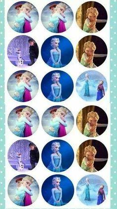 Disney's Frozen  bottle cap images