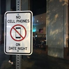 no cell phones on date night