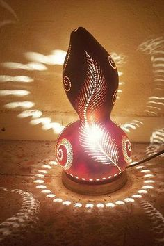 How To Turn a Gourd Into A Creative Party Lamp