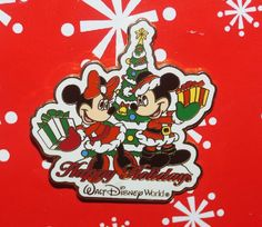 Disney Pin MICKEY Minnie WDW Happy Holidays 2002 Retired Sold Out