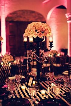 Black centerpieces