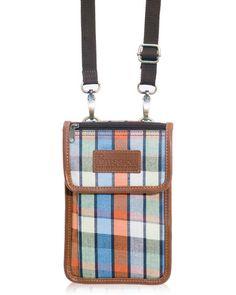 กระเป๋าผ้าขาวม้า Passport case (Orange)