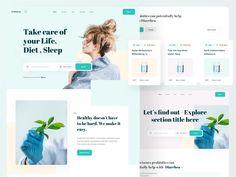 Pharmacy Web Design by sadbin walid Website Design Inspiration, Design Ideas, Creative Web Design, Ui Web, Pharmacy, Website Ideas, Landing, Inspire, Apothecary