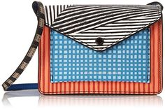 A statement bag to brighten any outfit. Marc by Marc Jacobs Metropoli Optical Stripe MT Cross Body Bag, Black/Multi, One Size. Small colorful bag in multiple patterns featuring outside pocket with metallic logo and envelope-style flap. Adjustable cross-body strap. Pockets: 2 interior slip, 1 exterior.