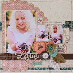 Daisy Chain Kit - Authentique Gathering, with Prima embellishments - Love Nature - Sue Tonga
