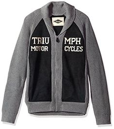 """Product review for Lucky Brand Men's Triumph Shawl Cardigan Sweater.  Lucky Brand men's long sleeve fashion knit full zip shawl cardigan       Famous Words of Inspiration...""""All that is required for evil to prevail is for good men to do nothing.""""   Edmund Burke — Click here for more from Edmund..."""