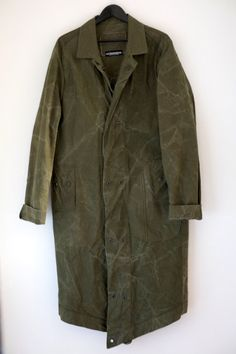 Men's Military Style Army Green Weatherproof Coat From by URBANDON