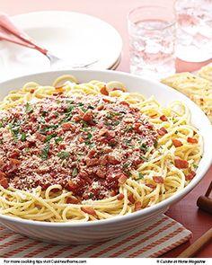 Bucatini all'Amatriciana   Cuisine at home eRecipes