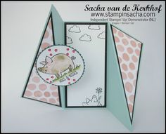 Stampin 'Up! This Little Piggy Diagonal Gatefold Card