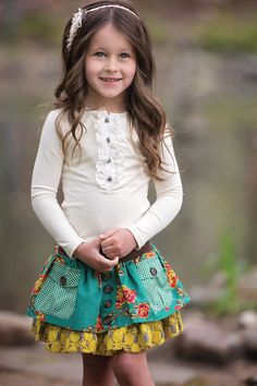 One Good Thread - Persnickety Clothing   Allie Skirt - Turquoise - Emerald Pine, $90.00 (http://www.onegoodthread.com/persnickety-clothing-allie-skirt-turquoise-emerald-pine/)