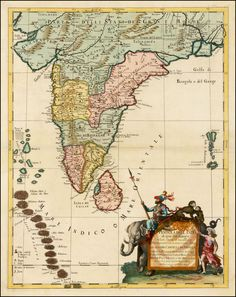 Cropped and reoriented 1790 japanese copy of matteo riccis famous map of india ceylon the maldives 1683 gumiabroncs Image collections
