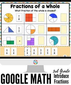 Fractions For Kids, Math Fractions Worksheets, 3rd Grade Fractions, Learning Fractions, Multiplying Fractions, Dividing Fractions, Equivalent Fractions, Pizza Fractions, Simplifying Fractions