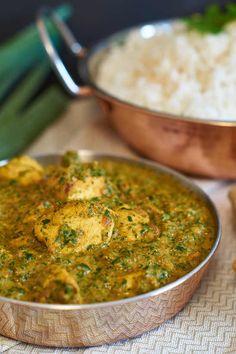 Palak Chicken   Indisches Curry mit Spinat und Hühnchen