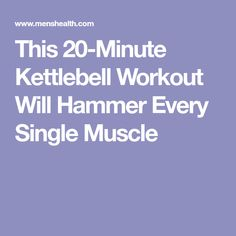 This 20-Minute Kettlebell Workout Will Hammer Every Single Muscle