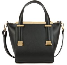 Ted Baker Barbies Leather Metal Bar Shopper in Black - Lyst