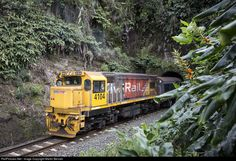 DC4104 shoves a suburban push-pull set made up of ex British Rail passenger cars into the Waitakere tunnel. This working only had one week left when I photographed it, with EMU sets taking over the Auckland suburban network from the following Monday. The scenic single track section to Waitakere was not included in the electrification scheme, and would sadly be replaced by a bus.