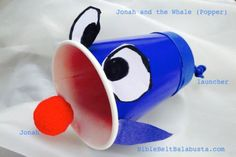 Jonah and the Whale (dag gadol) popper toy.  DIY: http://wp.me/pvKSY-2dr