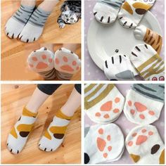 "Lovely cat claw socks Coupon code ""cutekawaii"" for 10% off"