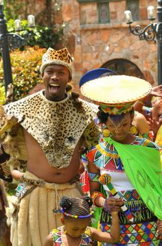 couple in beautiful traditional Zulu outfits