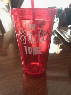 Great keepsake for Bride and her Bride Tribe!   Different colors available in glasses and in the message!  Great for taking to beach/pool.  Made of durable plastic.