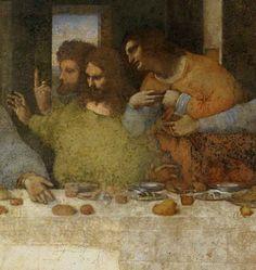 Leonardo Da Vinci, La última cena, detail