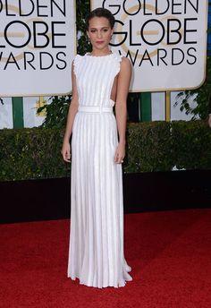 Alicia Vikander in Louis Vuitton - Golden Globes Awards 2016