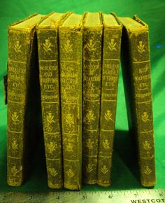 Antique 1912 Set of Six Robert Louis Stevenson Novels by parkledge, $295.00