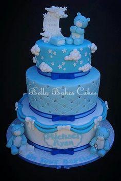..cute blue baby cake