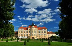 Rogalin Palace, Poland - built in the 17th and 18th centuries;  over the centuries, its style has been adapted to suit the times