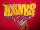For Sale - Vintage 1988 Atlanta Hawks Starter T-Shirt M/L Basketball NBA - See More At http://sprtz.us/HawksEBay