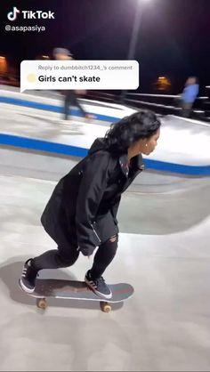 Beginner Skateboard, Skateboard Videos, Penny Skateboard, Skateboard Design, Skate Style Girl, Skate Girl, Skate 3, Skate Board, Skateboarding Girl