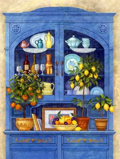 PDF cross stitch chart : Blue Buffet - Counted cross stitch pattern in PDF format by Maxispatterns on Etsy Embroidery Patterns, Hand Embroidery, Intermediate Colors, Arte Country, Creation Photo, Cross Stitch Supplies, Decoupage Paper, Counted Cross Stitch Patterns, Paper Dolls