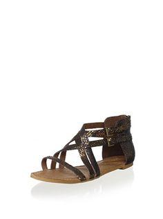 Koolaburra Women's Kurl Modern Gladiator Sandal (Bronze)
