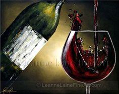 Estate Grenache Wine Glass canvas prints and wine glass canvas art ...