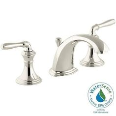 KOHLER Devonshire 8 in. Widespread 2-Handle Low-Arc Bathroom Faucet in Vibrant Polished Nickel - K-394-4-SN - The Home Depot