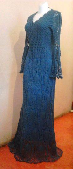 m s de 1000 im genes sobre vestidos de crochet largo 3 en