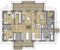Future House, Beach House, Architecture Design, House Plans, Sweet Home, Floor Plans, Home And Garden, Layout, House Design