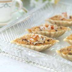 Macadamia, Coconut, and Chocolate Tarts