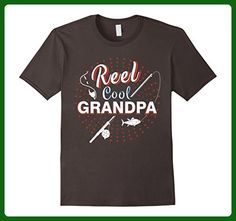 Mens Reel Cool Grandpa Shirt Funny Fishing T Shirt For Grandpa Medium Asphalt - Funny shirts (*Amazon Partner-Link)