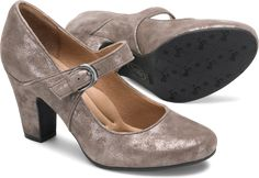 MIRANDA in Smoke Suede. A fan favorite! A classic mary jane with a rounded toe and chunky heel to match your style and comfort needs!