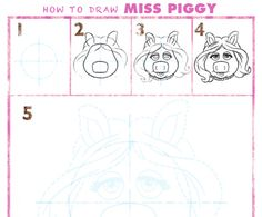 How to Draw Miss Piggy