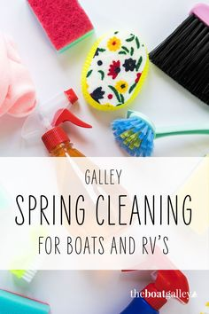 One deep cleaning can make all the difference on your RV and boat--keep ahead of bugs, find problems to fix, and just feel better about how things look. Here's how to do a spring cleaning that works! Deep Cleaning, Spring Cleaning, Living On A Boat, Christmas Ornaments, Holiday Decor, Boating, Feel Better, Bugs, Rv